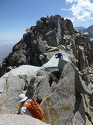 Rock Climbing Photo: Working our way along the north ridge of Independe...