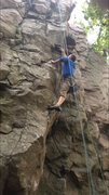 Rock Climbing Photo: Halfway point.