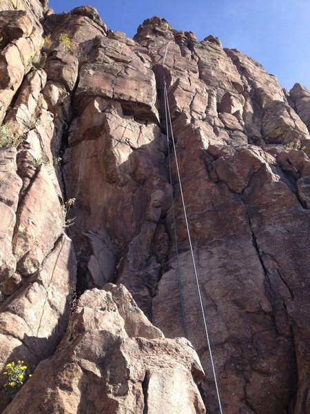 A rope on the route (another view).