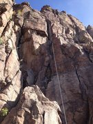 Rock Climbing Photo: A rope on the route (another view).