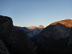 Rock Climbing Photo: Taken near the top in the evening light.