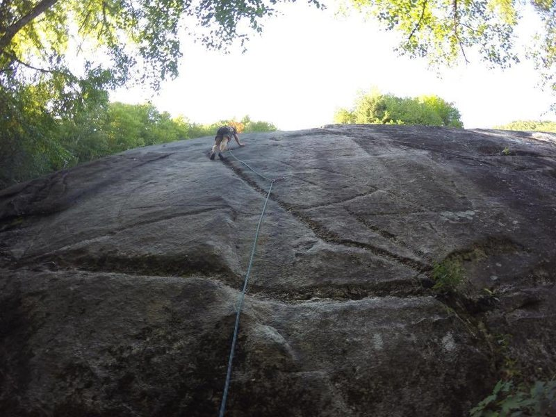 Rock Climbing Photo: Leading I Dike It