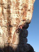Rock Climbing Photo: DA LeBaron getting ready to fire the crux