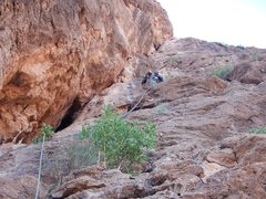 Climbing in Morocco, Aventures verticales Maroc, Tiwira 5.11b - 3