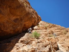 Climbing in Morocco, Aventures verticales Maroc, Tiwira 5.11b - 4