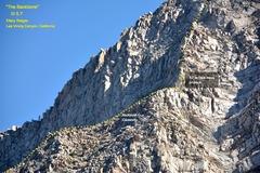 "Rock Climbing Photo: Upper stretch of ""The Backbone"" ridge (I..."
