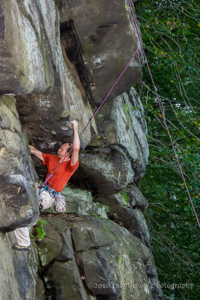 John Kelbel coming out of the first roof on Inverted Iron Cross