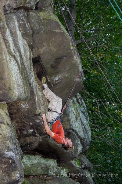 Rock Climbing Photo: Full inversion!