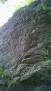 Rock Climbing Photo: My first 5.10 lead....one tricky move...good route...
