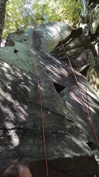 Suggest using a stick clip on the first bolt....really fun climbing here