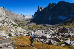 Rock Climbing Photo: Descending back to camp after climbing Wolf's ...