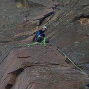 Rock Climbing Photo: Bastille Crack, top of P1