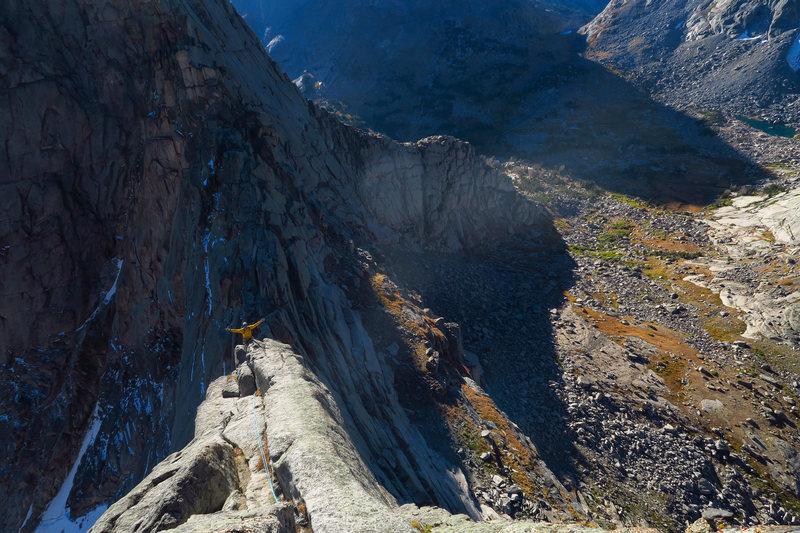 Simul-climbing on the E ridge