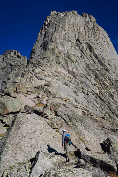 Approaching the S Buttress