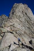 Rock Climbing Photo: Approaching the S Buttress
