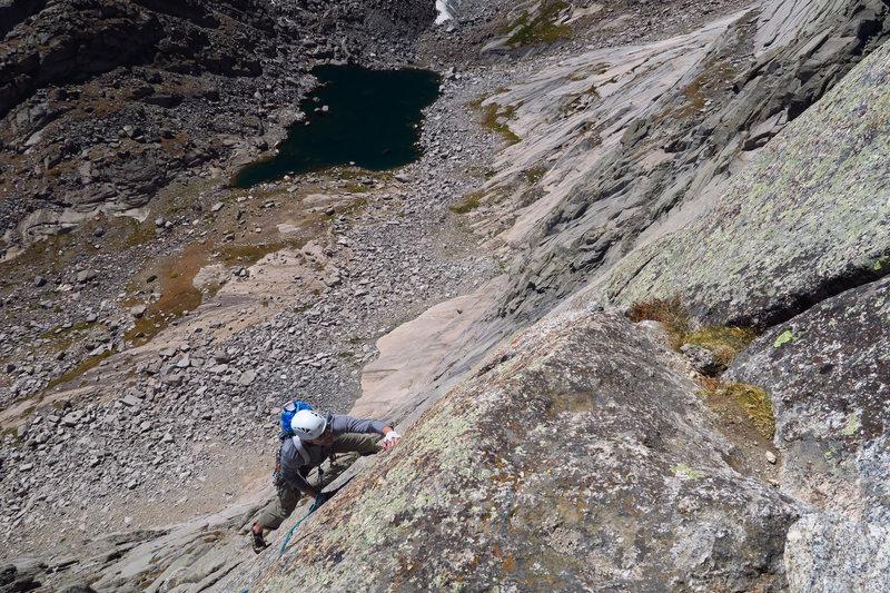 Rock Climbing Photo: Climbing the left K Crack