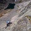 Climbing the left K Crack
