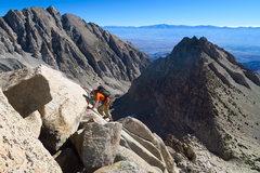 Rock Climbing Photo: Climbing some easy terrain near the beginning of t...