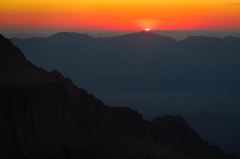 Sunrise from the E Buttress route