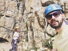 Rock Climbing Photo: Out in the Uinta's with my son learning trad, ...