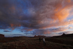 Rock Climbing Photo: South Six on the right. Typical Indian Creek sunse...