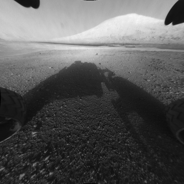 Mt Sharp viewed from Gale plateau
