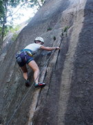 Rock Climbing Photo: Susan Lipton gets going on Connecticut Cracks