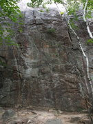 Rock Climbing Photo: Retlaw is the crack in the center of the photo; &q...