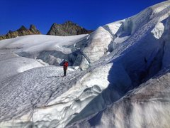 Rock Climbing Photo: The upper Curtis does start to break up late seaso...