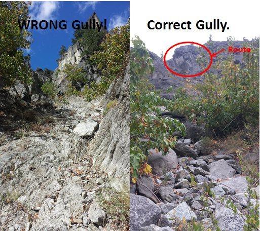 Rock Climbing Photo: Right/Wrong gully