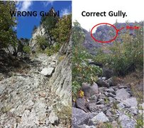 Right/Wrong gully