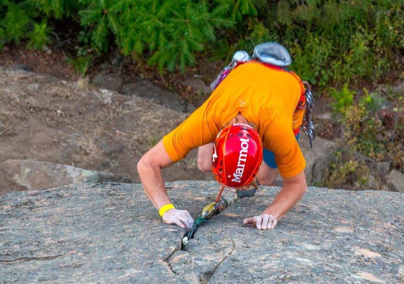 Rock Climbing Photo: Brenden Sullivan leading 'Trail Mix'. Phot...