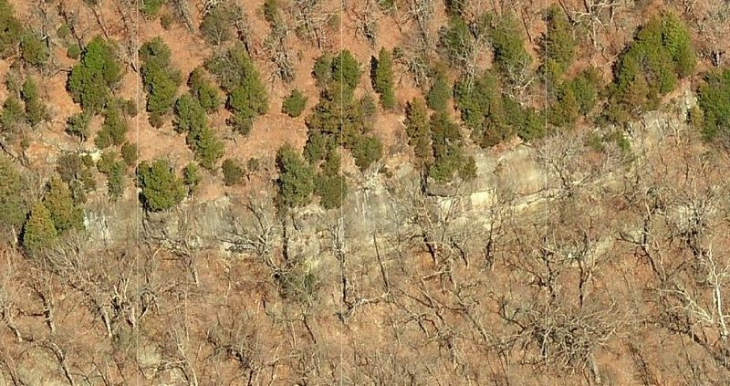 The bluff line from above