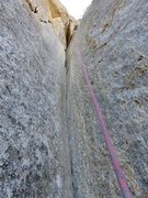 Rock Climbing Photo: Pitch 7. The acute handcrack corner. I found I cou...