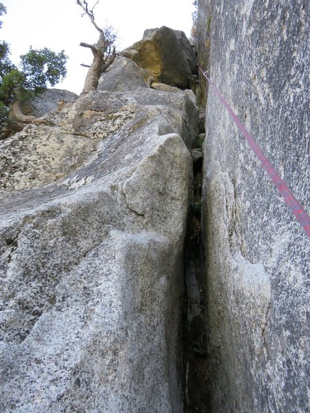 Rock Climbing Photo: This might be the notorious 5.8 squeeze section on...