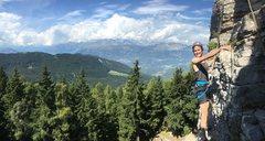Climbing near Trento, Italy