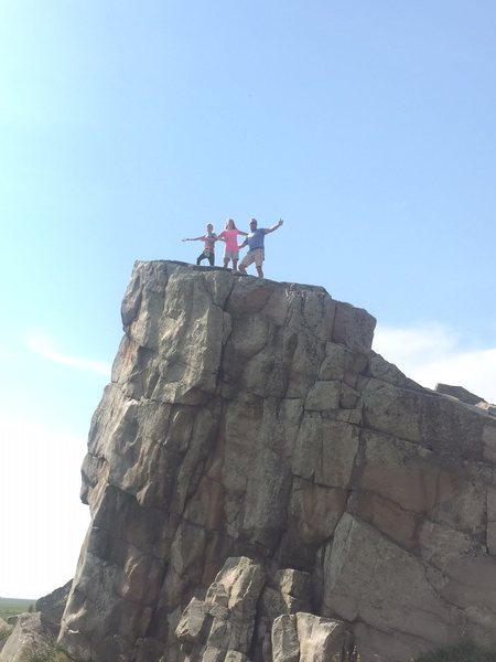 Rock Climbing Photo: Top of the west boulder