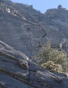 Rock Climbing Photo: Unknown climbers on pitch two of El Whampo
