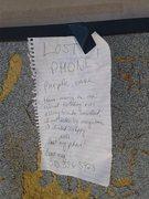 Rock Climbing Photo: saddest note ever
