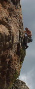 Rock Climbing Photo: JBak on his way to getting past a public hanging o...