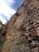 Rock Climbing Photo: Felt like an 8, but the bolts were spaced far enou...
