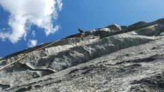 Rock Climbing Photo: Beginning of the third pitch