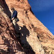 Rock Climbing Photo: Second pitch of Physical Graffiti, Calico Basin, R...