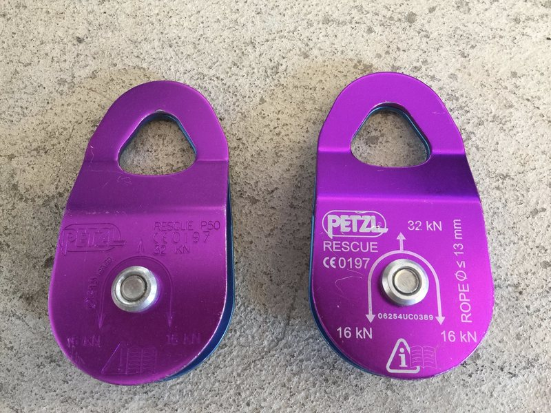 Petzl Rescue Pulley's.  Never used, like new.<br> $60.00<br> *SOLD