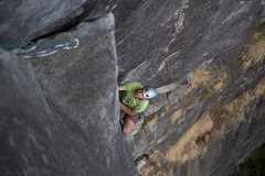 Rock Climbing Photo: Fletch approaching the belay at the second pitch o...