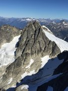 Rock Climbing Photo: The East Ridge climbs the right hand ridge line of...