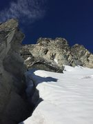 Rock Climbing Photo: Looking at the ridge from just below the two horiz...