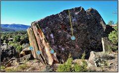 Rock Climbing Photo: Numen Problems:  1. Contact Light. 2. Skookum. 3. ...