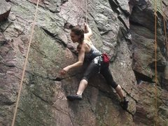 Rock Climbing Photo: First climb outside. Devil's Lake - Wisconsin.