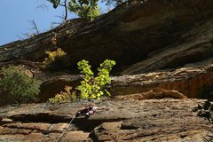 Sport climbing for the labor day week-end. <br />Red River Gorge - Kentucky.